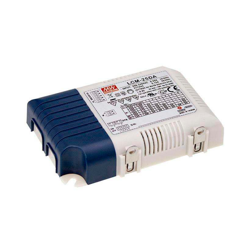 DALI Driver MEAN WELL Ajustable LCM-25DA, Regulable